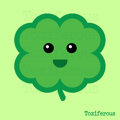 Toxiferous Designs Cute Four Leaf Clover T Shirts And Gifts