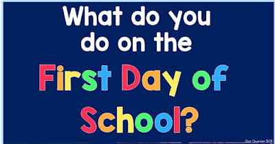 What do you do on the first day of school?