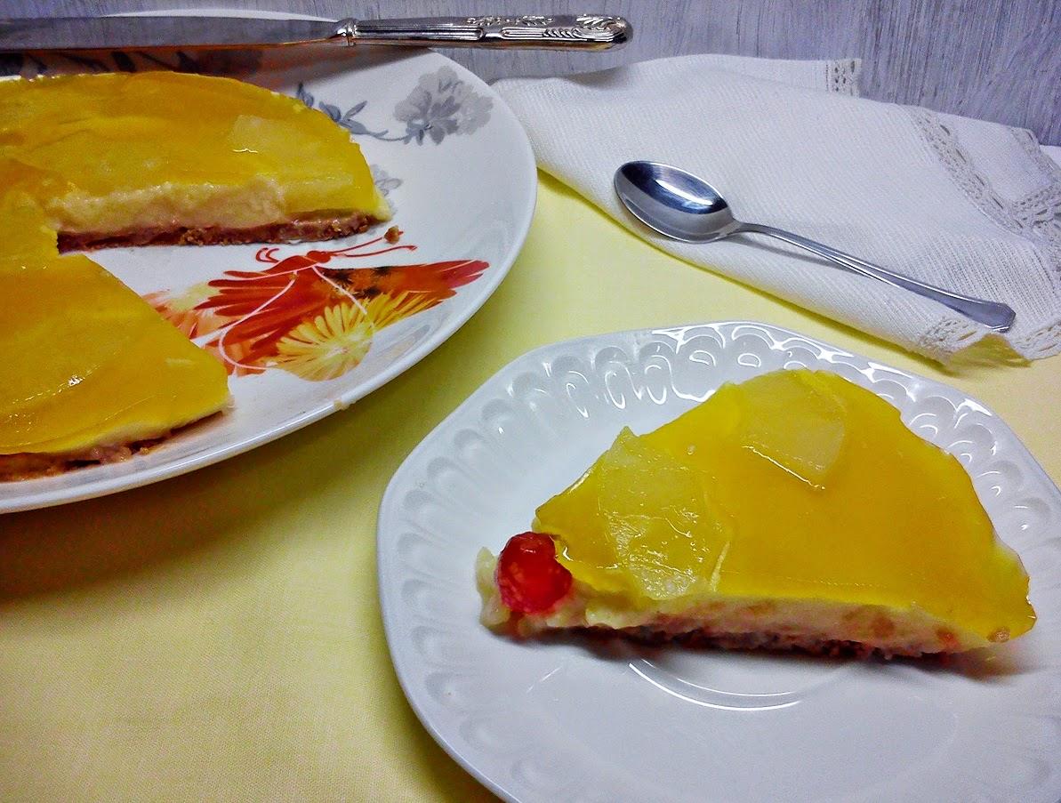 Pastel Frio de Piña y Vainilla