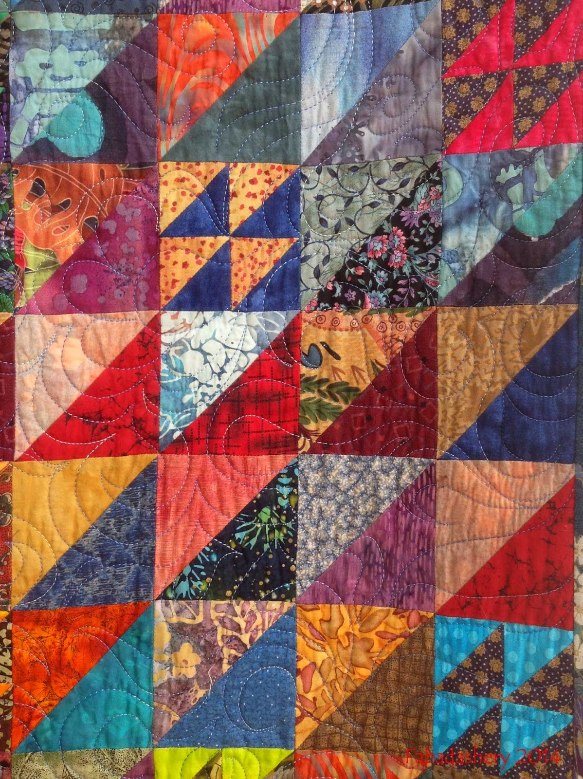 'Strictly Triangles' Quilt by Katherine Guerrier