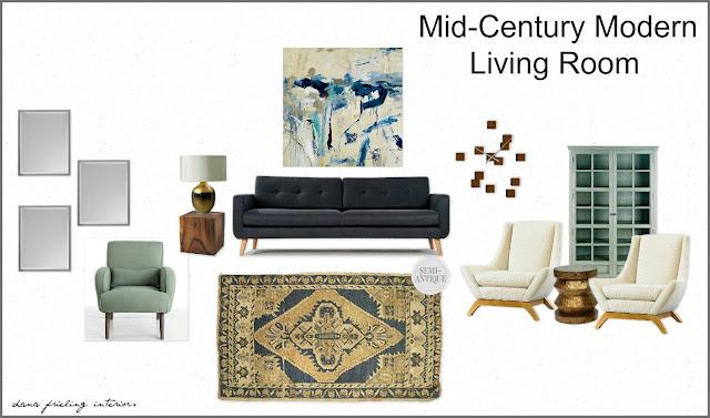 Make Them Wonder Mid Century Modern Living Room Design