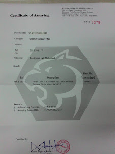 ASSAYER CERTIFICATE - RMC66