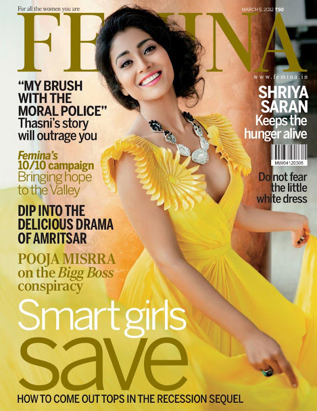 Shriya Saran on Femina Magazine