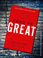 "Beauty shot picture of book by Jim Collins, ""Good to Great"", ""Why Some Companies Make the Leap...and Others Don't"""