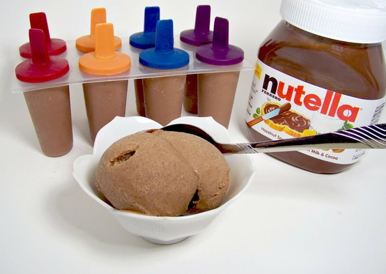 The Children's Nest: Nutella Ice Cream Pops!!!