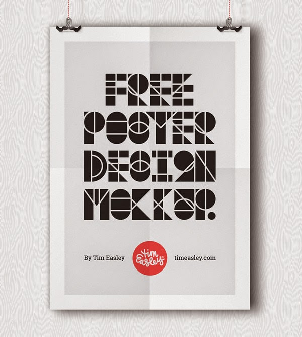Download Poster Mockup Terbaru Gratis - FREE POSTER DESIGN MOCKUP BY TIM EASLEY