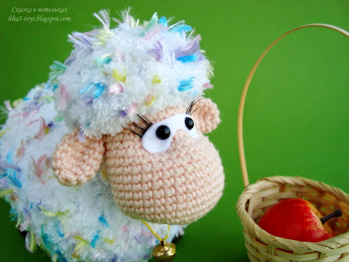Мастер класс по вязания овечки крючком 170