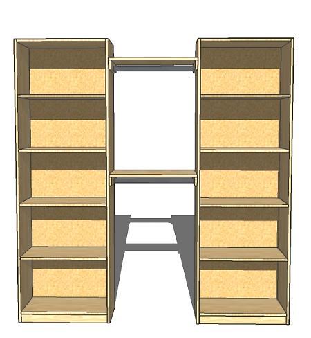 Organizing a closet with a diy closet organizer the for Simple closet shelves