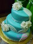 Kek Kahwin 3 tier (Fondant) dari RM450.00