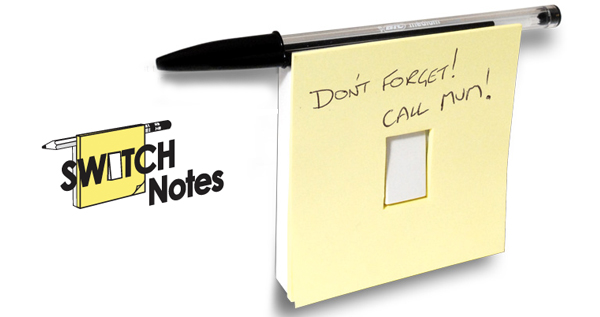 Light Switch Post it Notes