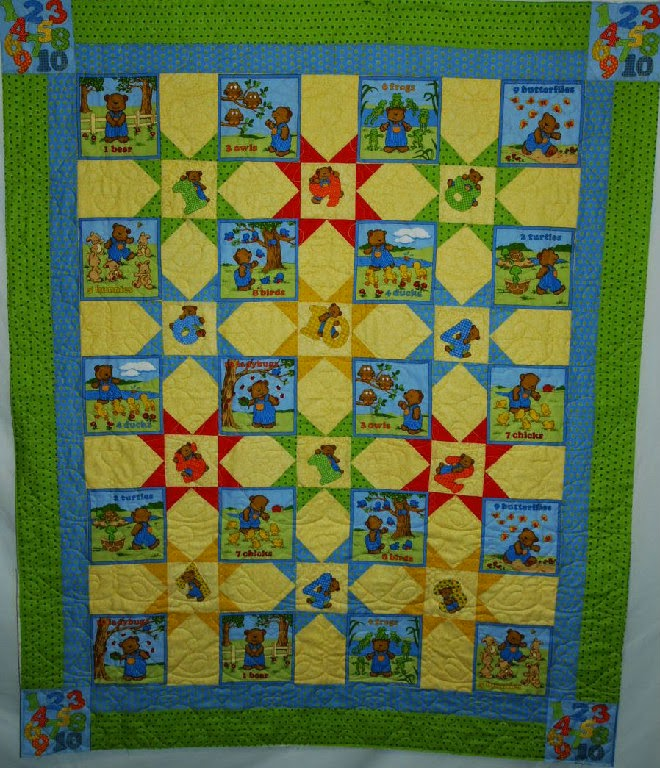 Leanne Strum Counting Quilt with Bears