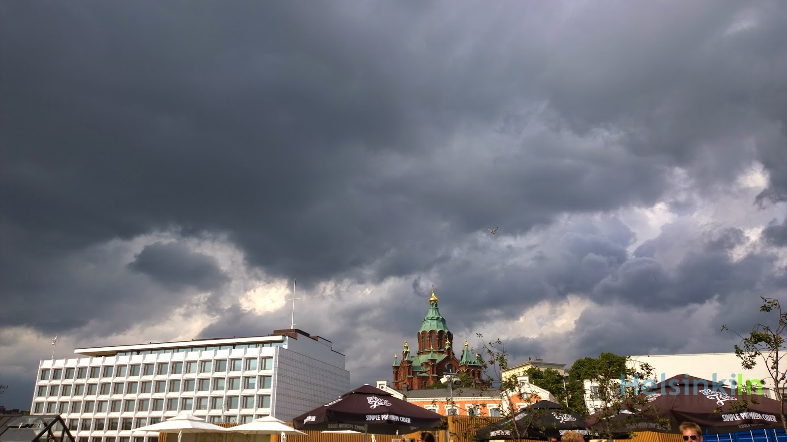 Dark clouds over Katajanokka