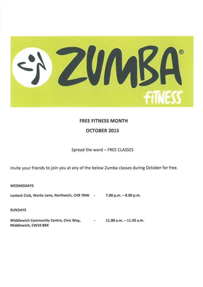 The Middlewich Diary Zumba Fitness Free Classes