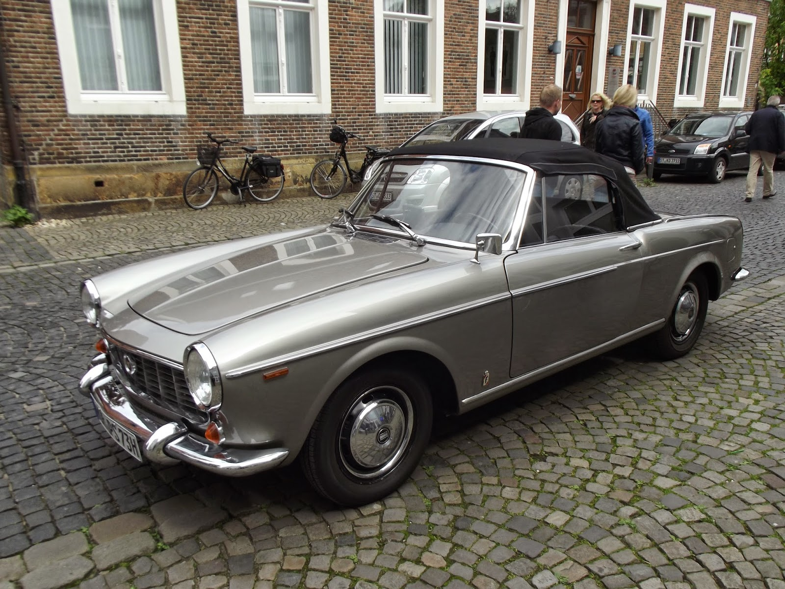 A Fiat 1500 at a vintage car event in Germany in May 2014