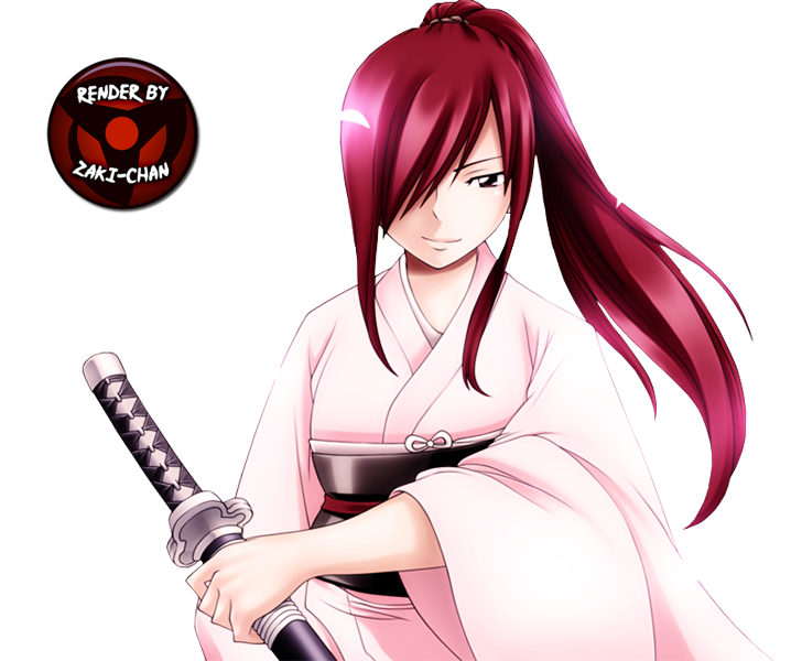 Render Erza Scarlet + Fairy tail