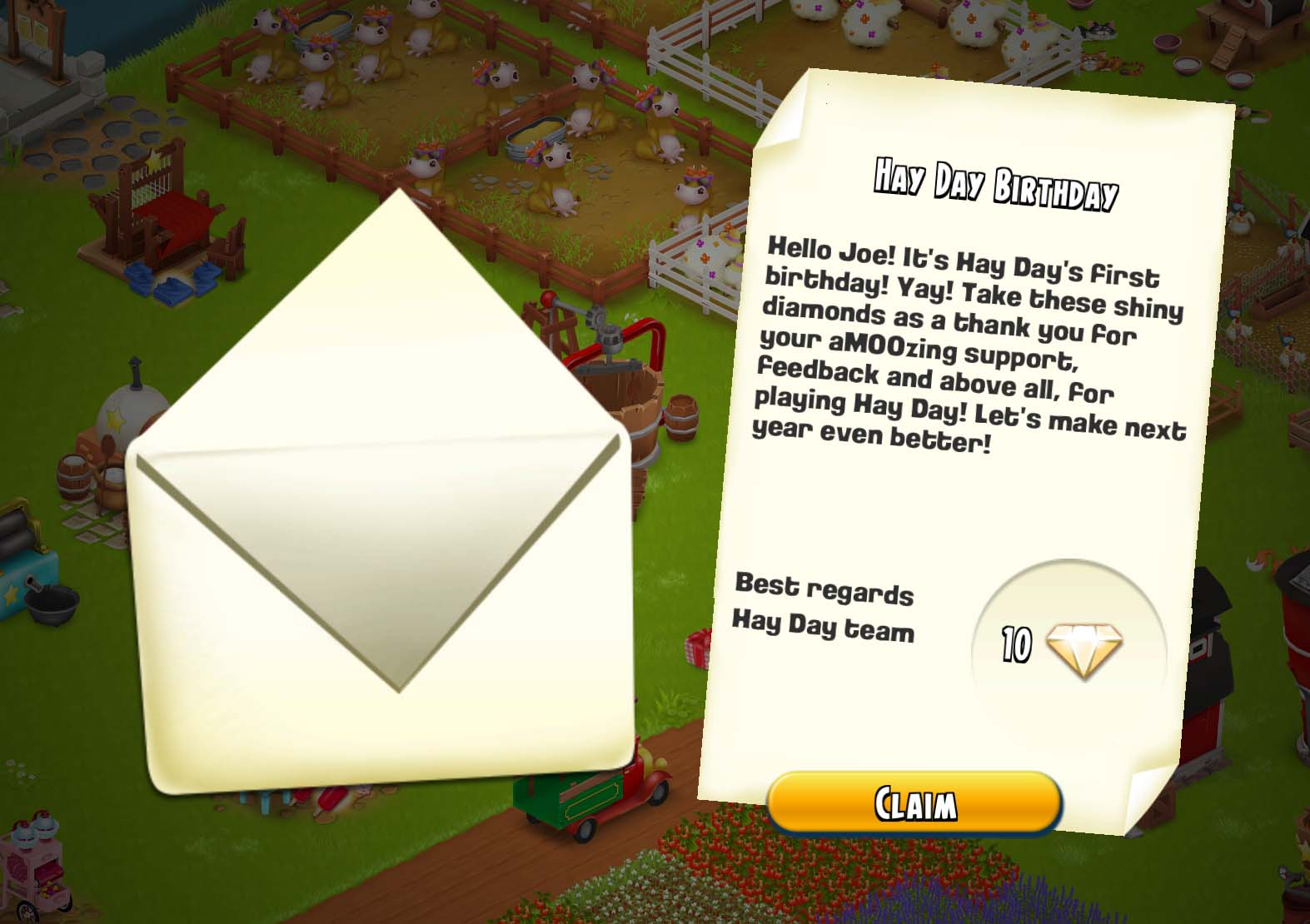 how to get diamonds on hay day without buying them