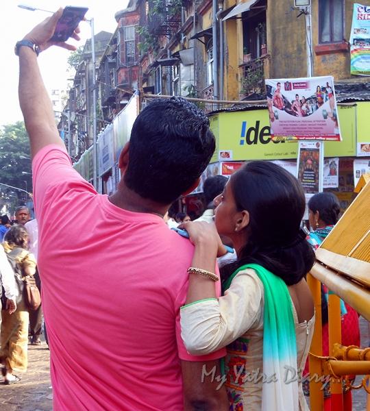 Selfie at Lalbaugcha raja Pandal, Ganesh Pandal Hopping, Mumbai