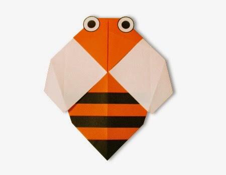 Hướng dẫn cách gấp con Ong bằng giấy đơn giản - Xếp hình Origami với Video clip - How to make a Bee