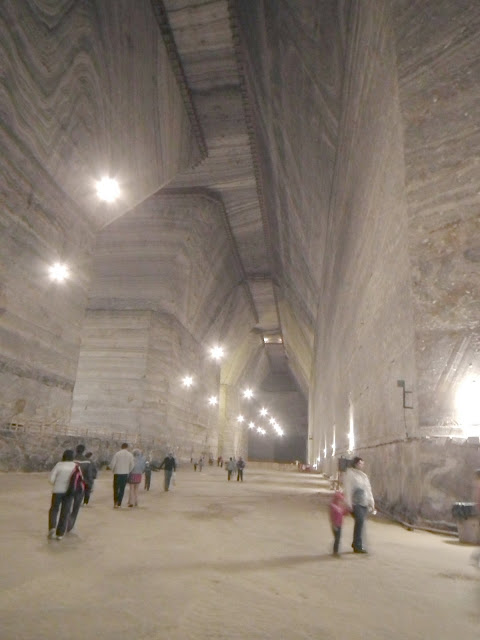 Unirea Salt Mine , Access Hall with trapezoidal-shaped walls, Slanic Prahova, Romania