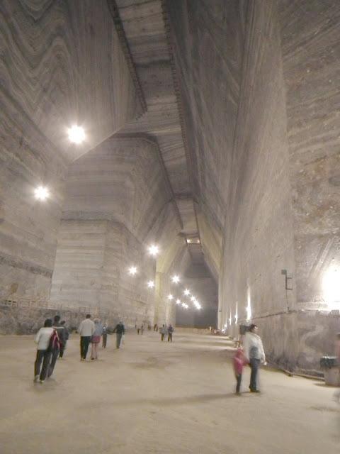 Unirea Salt Mine , Access Hall with trapezoidal-shaped walls, Slanic Prahova, Romania