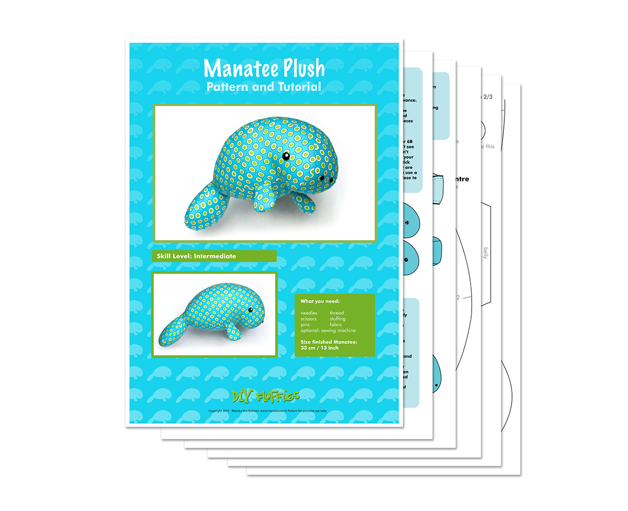 Toy patterns by diy fluffies 2015 sea cow plush pattern jeuxipadfo Images