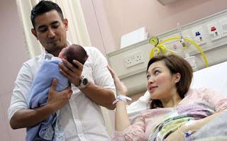 Foto Bayi Rio Febrian dan Sabria Kono