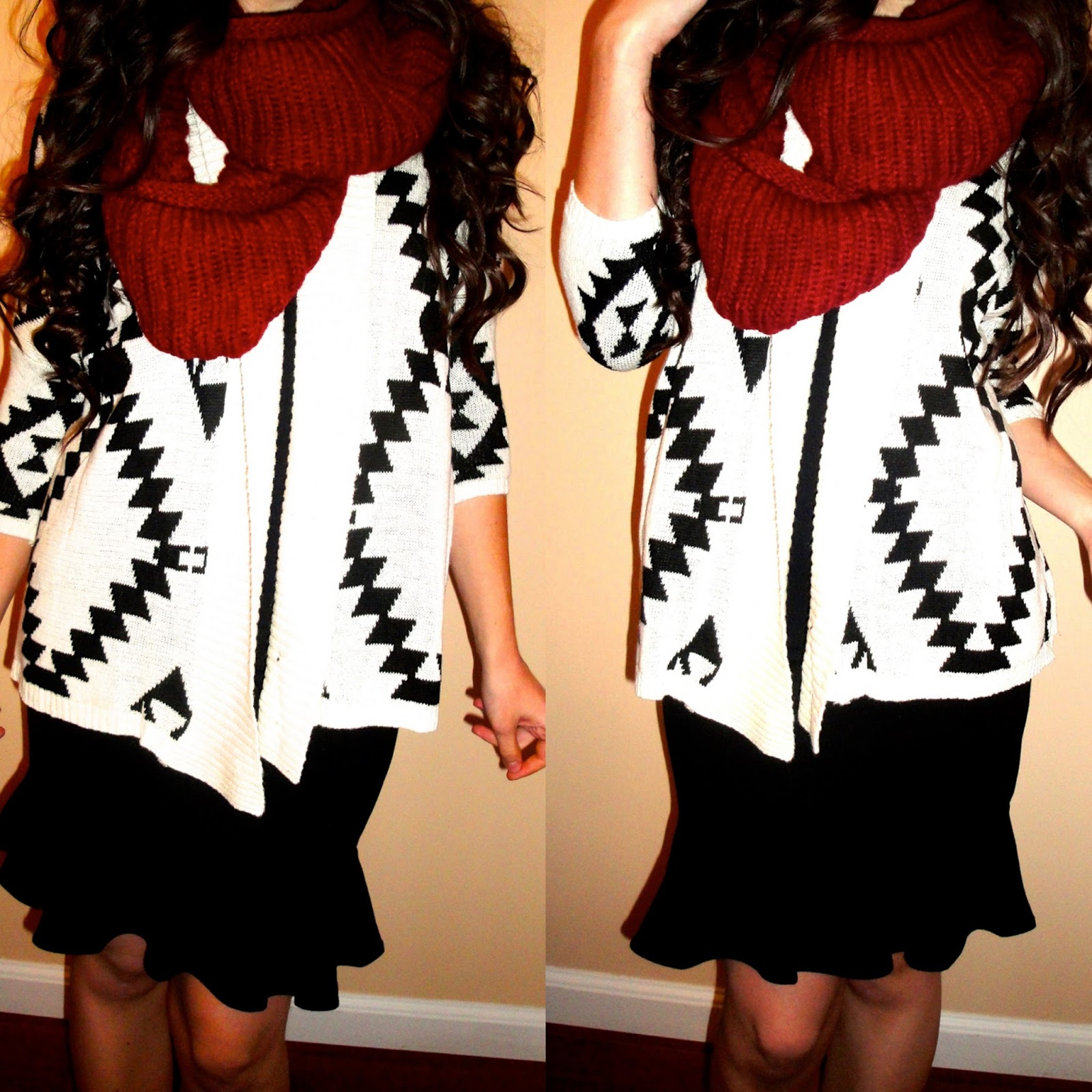 3 ways to wear aztec print, 3 ways to wear cardigans, 3 ways to wear cute cardigans for fall and winter, aztec cardigans, fall and winter ideas for outfits,