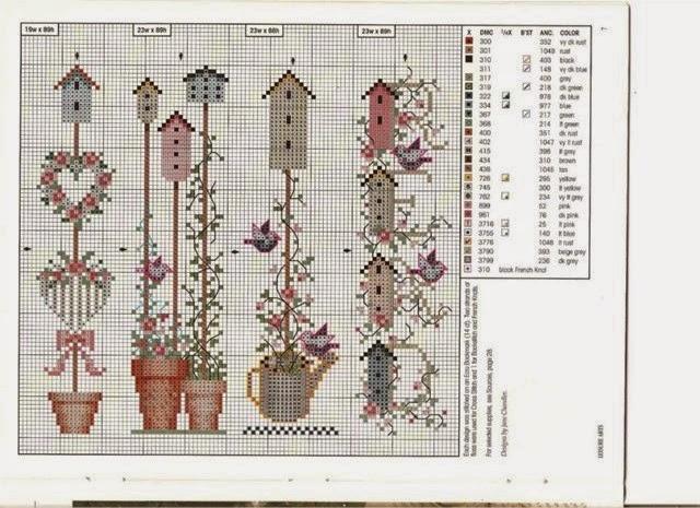 Вышивка крестом дизайнерские схемы 3