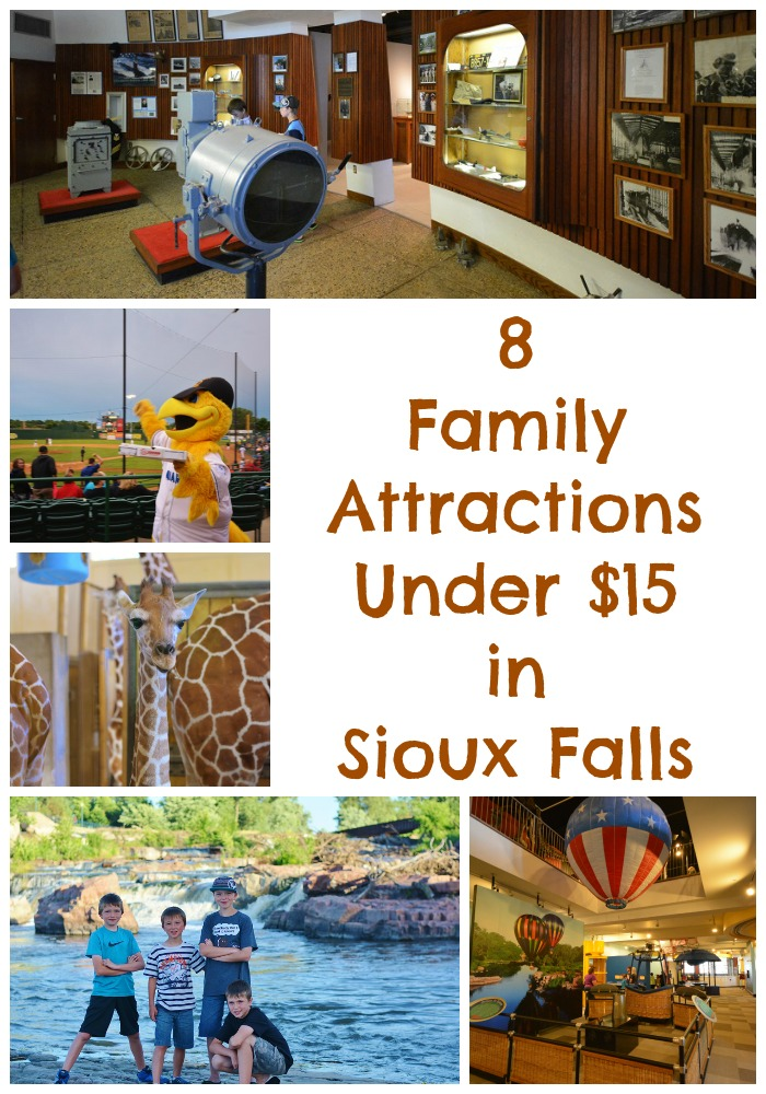 8 family friendly attractions under $15 in Sioux Falls! #travel #familytravel