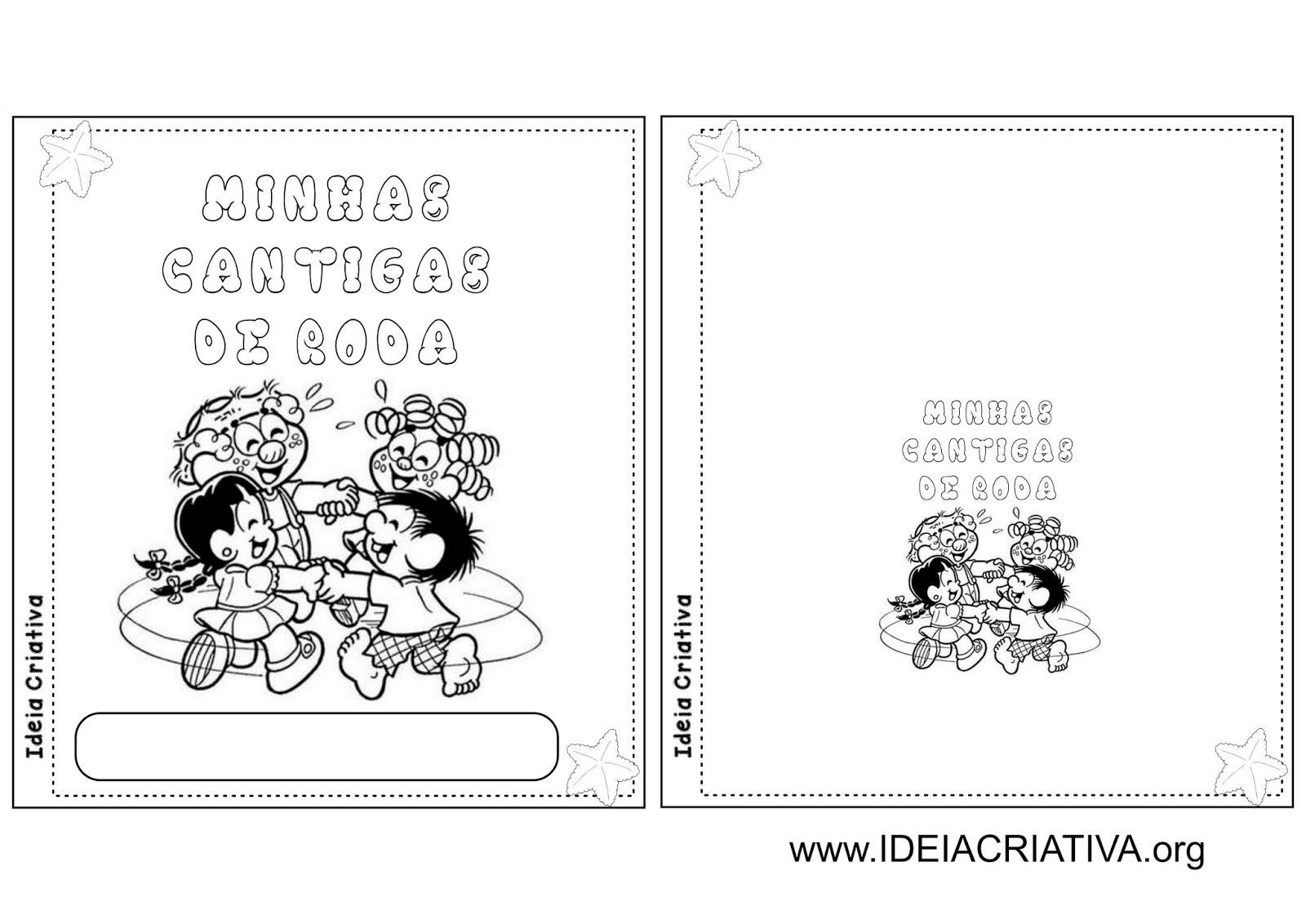 Populares Álbum Ilustrado Cantigas de Roda Folclore | Ideia Criativa - Gi  MG09