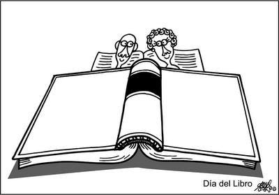 Viñeta del día del libro