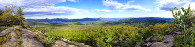 Panorama from Cat Mountain's summit, Saturday May 23, 2015.  The Saratoga Skier and Hiker, first-hand accounts of adventures in the Adirondacks and beyond, and Gore Mountain ski blog.