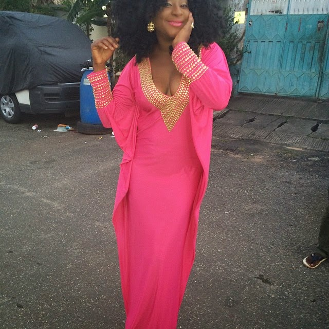 Check Out Ini Edo in a Lovely Pink Dress