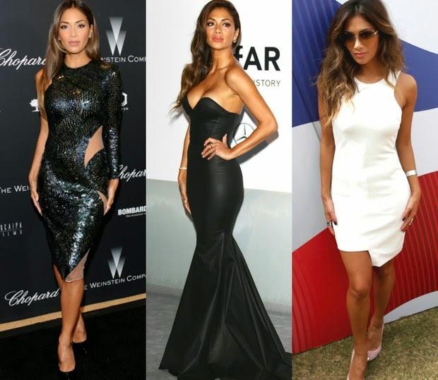 A cantora Nicole chama atenção pela boa forma em modelitos coladíssimos ao corpo
