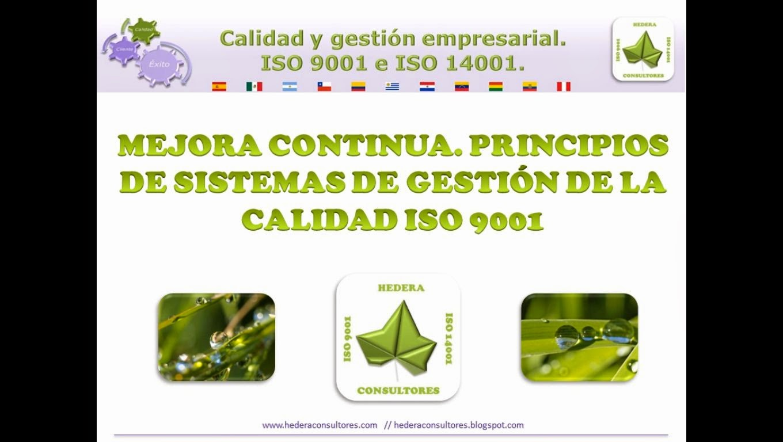 Mejora continua ISO 9001