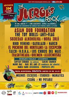 Juergas Rock Festival, 2015, Cartel