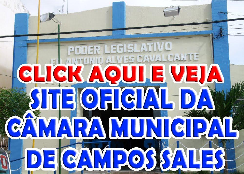 SITE OFICIAL DA CÂMARA MUNICIPAL DE CAMPOS SALES