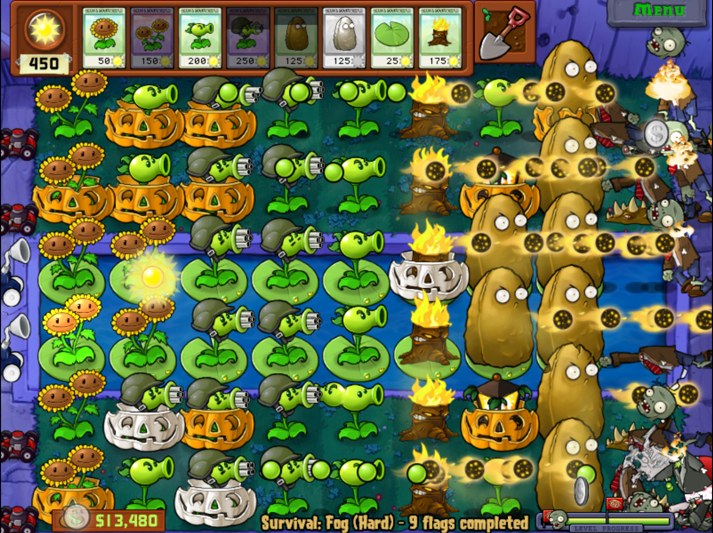 Plants vs zombies cho Galaxy Y - GT S5360 đây