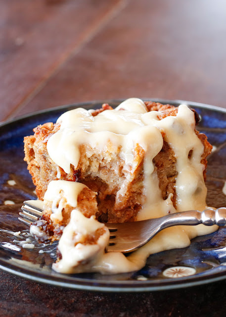 Challah Bread Pudding {a.k.a. the BEST bread pudding EVER} recipe with Kahlua Cream Sauce - barefeetinthekitchen.com