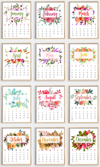 The NEW 2018 Calendar has a free Calendar-At-A-Glance Bonus!