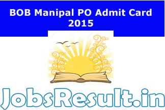 BOB Manipal PO Admit Card 2015