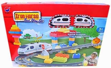 Kado ulang tahun anak berupa mainan kereta api keren.