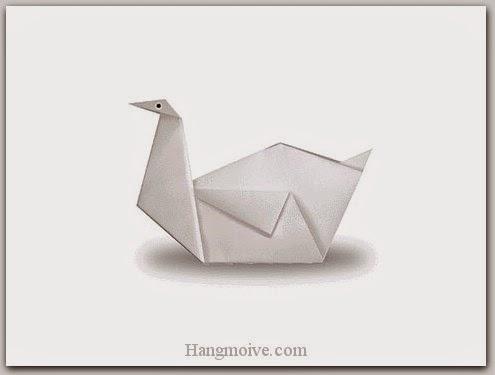 Cách gấp, xếp con thiên nga bằng giấy origami - Video hướng dẫn xếp hình Động vật - How to fold a Swan