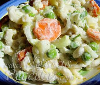 receita de salada de macarrão com maionese e legumes