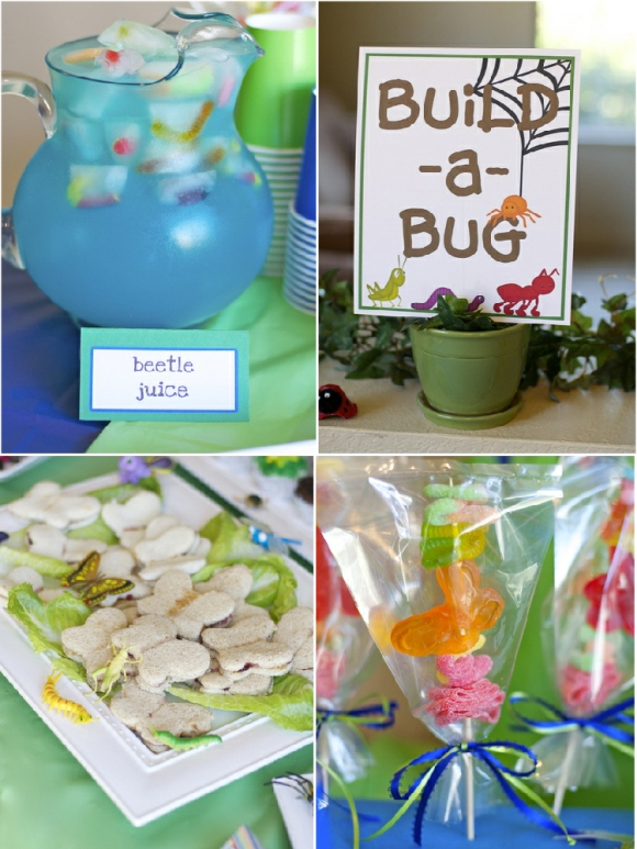 Bugs birthday party ideas party printables supplies partyware party