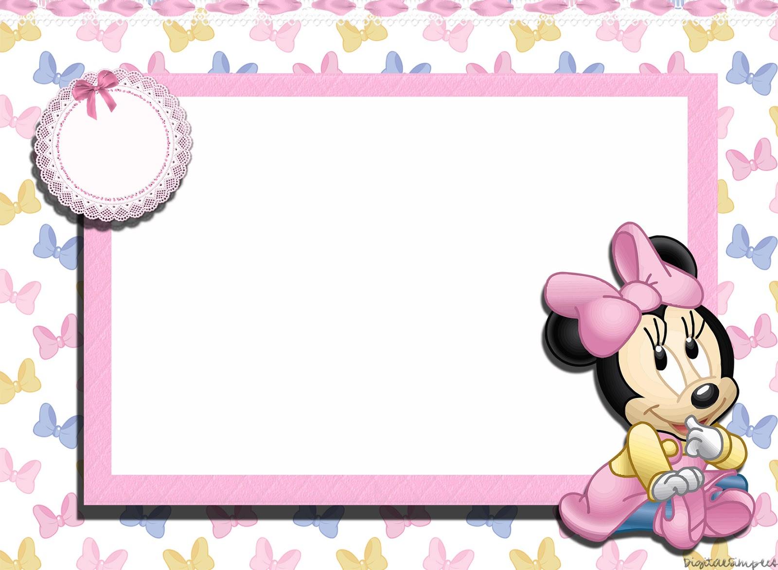 Invitation Minnie Baby