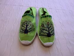 Zapatillas Pavo verde