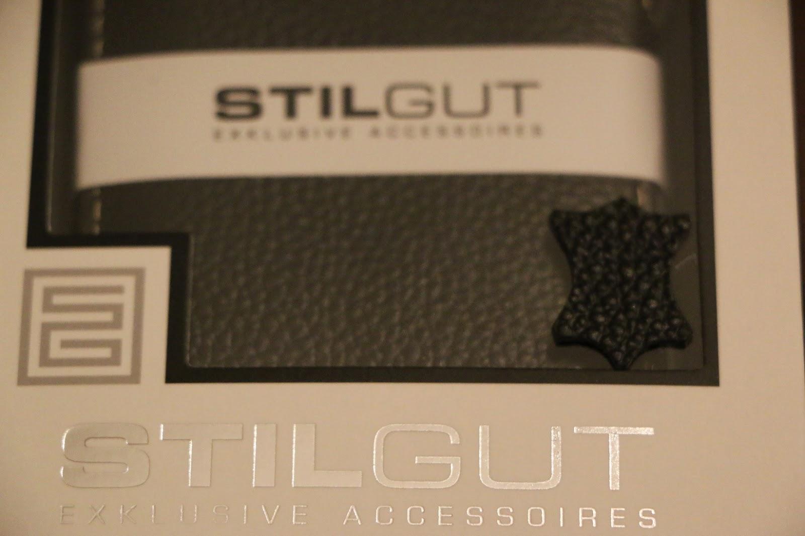 StilGut custodia Galaxy S6 modello Book Type nera dettaglio in pelle 1