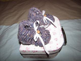 Chaussons hollandais pour bébé en tricot
