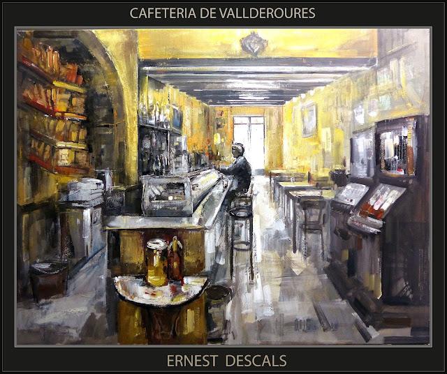 CAFETERIAS-PINTURAS-VALLDEROURES-CAFETERIA-PINTURA-MATARRANYA-CUADROS-ARTISTA-PINTOR-ERNEST DESCALS-
